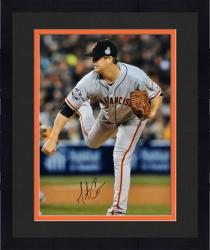 "Framed Matt Cain San Francisco Giants 2012 World Series Autographed 16"" x 20"" Pitch Photograph"