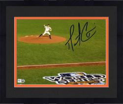 "Framed Matt Cain San Francisco Giants Autographed 8"" x 10"" 2012 World Series Photograph"