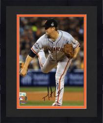 "Framed Matt Cain San Francisco Giants Autographed 8"" x 10"" Pitch Action Photograph"