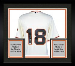 Framed Matt Cain San Francisco Giants Autographed Majestic Replica Beige Jersey