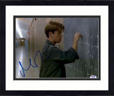 "Framed Matt Damon Autographed 11"" x 14"" Good Will Hunting Photograph - PSA/DNA"