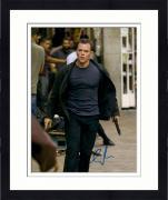 Framed Matt Damon Autographed 11'' x 14'' Holding Gun Photograph