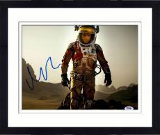 """Framed Matt Damon Autographed 11"""" x 14"""" Horizontal The Martian Photograph - PSA/DNA"""