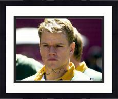 "Framed Matt Damon Autographed 11"" x 14"" Invictus - Headshot Photograph - Beckett COA"