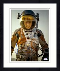 "Framed Matt Damon Autographed 11"" x 14"" Vertical The Martian Photograph - PSA/DNA"