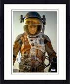 """Framed Matt Damon Autographed 11"""" x 14"""" Vertical The Martian Photograph - PSA/DNA"""