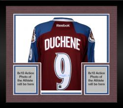 Framed Matt Duchene Colorado Avalanche Autographed Burgundy Reebok Premier Jersey