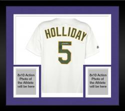Framed Matt Holliday Oakland Athletics Autographed Majestic White Replica Jersey