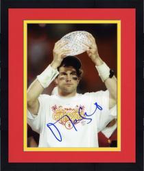 """Framed Matt Leinart USC Trojans Autographed  8"""" x 10"""" Holding Trophy Photograph"""