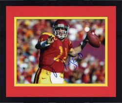 """Framed Matt Leinart USC Trojans Autographed 8"""" x 10"""" Photograph -"""