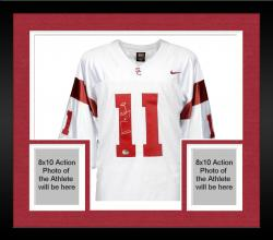 Framed Matt Leinart USC Trojans Nike Autographed Jersey