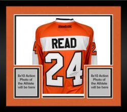 Framed Matt Read Philadelphia Flyers Autographed Orange Reebok Premier Jersey