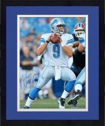 "Framed Matthew Stafford Detroit Lions Autographed 16"" x 20"" Passing Photograph"