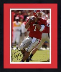 "Framed Matthew Stafford Georgia Bulldogs Autographed 8"" x 10"" Photograph"