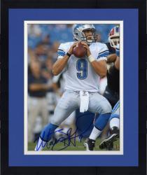 Framed Matthew Stafford Signed Picture - 8x10 Mounted Memories