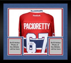 Framed Max Pacioretty Montreal Canadiens Autographed Red Reebok Premier Jersey