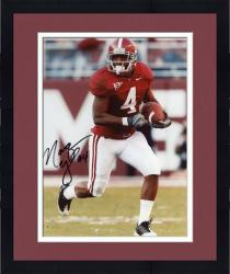Framed Marquis Maze Alabama Crimson Tide Autographed 8'' x 10'' Solo Run Ball Red Jersey Photograph