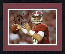 "Framed AJ McCarron Alabama Crimson Tide Autographed 8"" x 10"" Red Uniform Photograph"