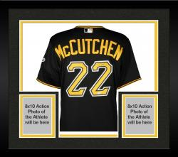 Framed Andrew McCutchen Pittsburgh Pirates Autographed Majestic Game-Worn Black Jersey