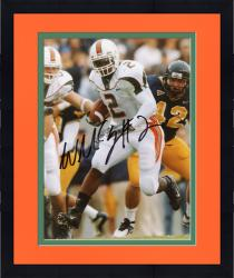 Framed Fanatics Authentic Autographed Willis McGahee Miami Hurricanes 8'' x 10'' Defender Behind Photograph