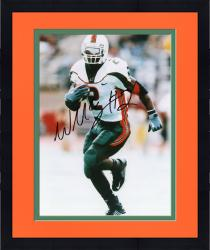 Framed Fanatics Authentic Autographed Willis McGahee Miami Hurricanes 8'' x 10'' Running Ball Solo Photograph