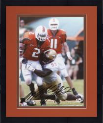 Framed Fanatics Authentic Autographed Willis McGahee Miami Hurricanes 8'' x 10'' vs. FSU Seminoles Breaking Tackle Photograph