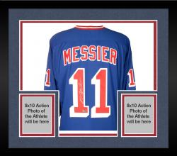 Framed Mark Messier New York Rangers Autographed White Reebok Jersey