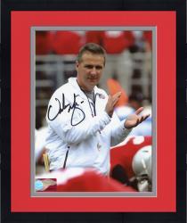 Framed Urban Meyer Autographed Ohio St 8x10 Photo