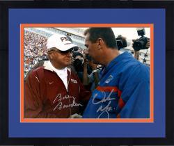 Framed Urban Meyer and Bobby Bowden Autographed Gators Seminoles 11x14 Photo