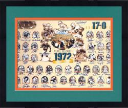 Framed Miami Dolphins 1972 Perfect Season Signed Lithograph