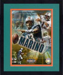 "Framed Miami Dolphins Dan Marino Signed Hall of Fame 8"" x 10"" Photo"