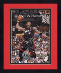 "Framed Dwyane Wade Miami Heat Autographed 16"" x 20"" Dunk Black Uniform Photograph"