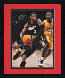 "Framed Dwyane Wade Miami Heat Autographed 16"" x 20"" vs. Kobe Bryant Vertical Photograph"