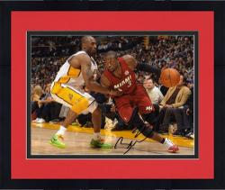 "Framed Dwyane Wade Miami Heat Autographed 8"" x 10"" vs. Kobe Bryant Horizontal Photograph"