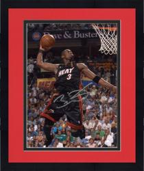 "Framed Dwyane Wade Miami Heat Autographed 8"" x 10"" Dunking Photograph"