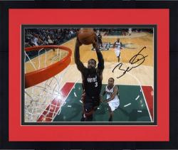 "Framed Dwyane Wade Miami Heat Autographed 8"" x 10"" vs. Milwaukee Bucks Photograph"