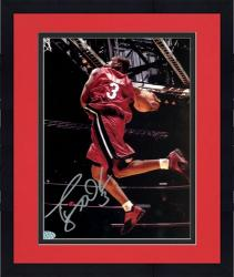 "Framed Dwyane Wade Miami Heat Autographed 8"" x 10"" Dunking Red Jersey Photograph"