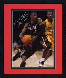 "Framed Dwyane Wade Miami Heat Autographed 8"" x 10"" vs. Kobe Bryant Vertical Photograph"
