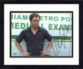 "Framed Michael C. Hall Autographed 8"" x 10"" Dexter Arms on Hips Photograph - Beckett COA"