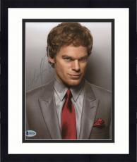 "Framed Michael C. Hall Autographed 8"" x 10"" Dexter Grey Suit Photograph - Beckett COA"