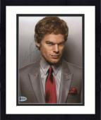 "Framed Michael C. Hall Autographed 8"" x 10"" Dexter Grey Suit Photograph - Beckett COA"