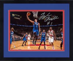 "Framed Michael Carter-Williams Philadelphia 76ers Autographed 8"" x 10"" Layup vs. Portland Trail Blazers Photograph"