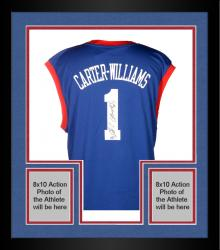 Framed Michael Carter-Williams Philadelphia 76ers Autographed adidas Replica Blue Jersey