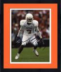 """Framed Michael Huff Texas Longhorns """"Stance"""" Autographed 8"""" x 10"""" Photograph"""