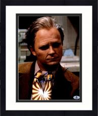 """Framed Michael J Fox Autographed 11"""" x 14"""" Back To The Future II As Old Man Color Photograph - Beckett COA"""