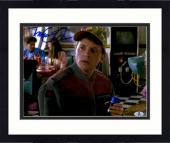 """Framed Michael J Fox Autographed 11"""" x 14"""" Back To The Future II Wearing Hat And Holding Soda Can Photograph - Beckett COA"""