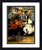 """Framed Michael J Fox Autographed 11"""" x 14"""" Back To The Future Playing Guitar Photograph - PSA/DNA COA"""