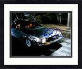 "Framed Michael J Fox Autographed 11"" x 14"" Back To The Future Sitting In The Delorean Photograph - Beckett COA"