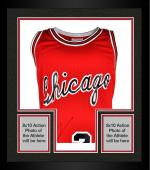 Framed Michael Jordan Chicago Bulls Autographed Mitchell & Ness Red Jersey