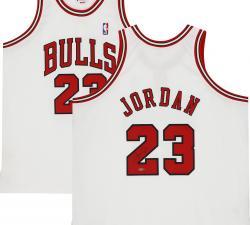 Framed Michael Jordan Chicago Bulls Autographed Mitchell & Ness White Jersey